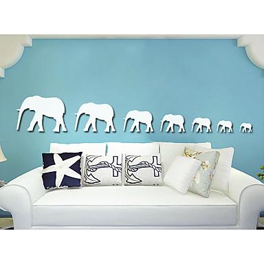 Abstrakt Tiere 3D Wand-Sticker Spiegel Wandsticker Dekorative Wand Sticker, Acryl Haus Dekoration Wandtattoo Wand