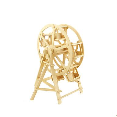 Legpuzzel Houten modellen Modelbouwsets Cirkelvormig 3D Simulatie DHZ Puinen Hout Klassiek Kinderen Unisex Geschenk