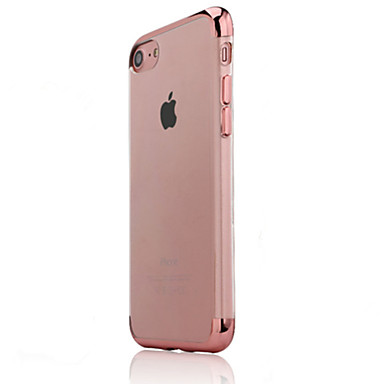 Geval voor apple iphone 7 plus iphone 7 case cover plating back cover case transparante soft tpu voor apple iphone 6s plus iphone 6 plus