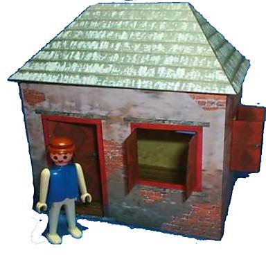 3D-puzzels Bouwplaat Papierkunst Modelbouwsets Huis DHZ Hard Kaart Paper Klassiek Cartoon Kinderen Jongens Unisex Geschenk