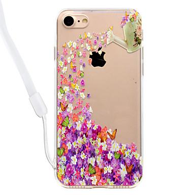 hoesje Voor Apple Transparant Patroon Achterkantje Vlinder Bloem Hard Acryl voor iPhone 7 Plus iPhone 7 iPhone 6s Plus iPhone 6 Plus