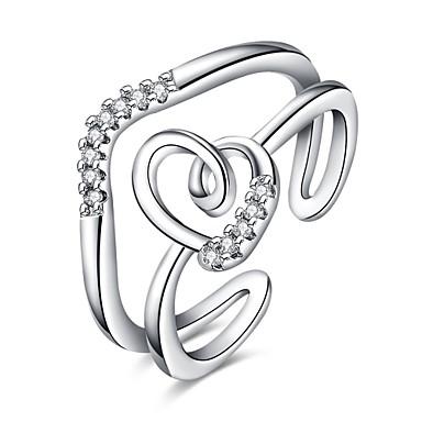 Dames Ring Zirkonia Gepersonaliseerde Luxe Meetkundig Cirkelvormig ontwerp Uniek ontwerp Tatoeagestijl Klassiek Vintage Tekojalokivi