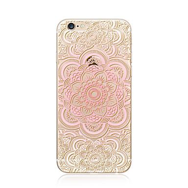 Hülle Für Apple iPhone X iPhone 8 Plus Transparent Muster Rückseite Mandala Lace Printing Weich TPU für iPhone X iPhone 8 Plus iPhone 8