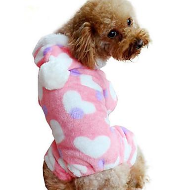 Hund Overall Hundekleidung Herz Flanell Kostüm Für Haustiere Herrn Damen Lässig / Alltäglich