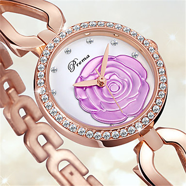 Damen Modeuhr Armband-Uhr Quartz Legierung Band Gold