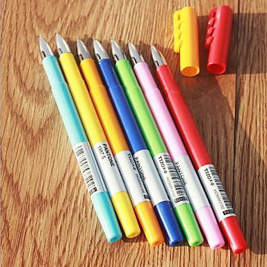 Gel Pen Toll Gél tollak Toll,Műanyag Hordó Kék Sárga Narancssárga Zöld Véletlenszerűen kiválasztott színek Ink Colors For Iskolai