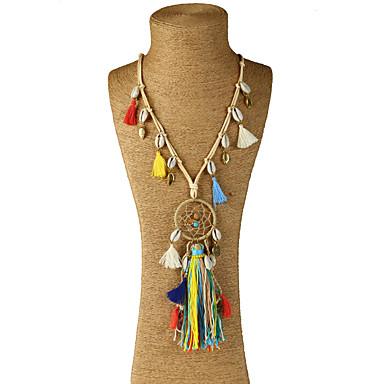 Damen Geometrische Form Gestalten Anhänger Stil Anhänger Quaste Regenbogen Böhmische Handgemacht Simple Style Halsketten Anhängerketten