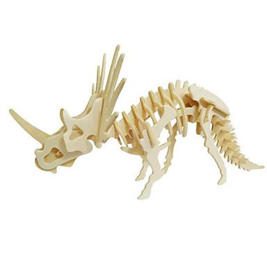 Puzzle 3D Puzzle Modelul lemnului Jucarii Dinosaur Animal 3D Simulare Lemn Lemn natural Ne Specificat Bucăți