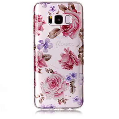 Maska Pentru Samsung Galaxy S8 Plus S8 IMD Model Carcasă Spate Luciu Strălucire Floare Moale TPU pentru S8 S8 Plus S7 edge S7 S6 edge S6