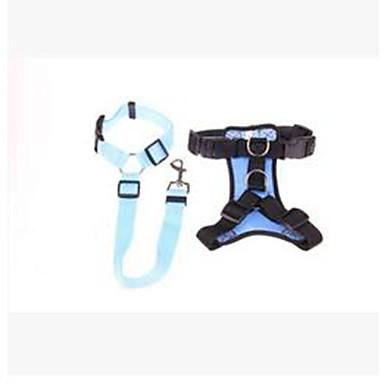 Hund Halsbänder Bellhalsband Auto Sitzbezug Tragbar Einstellbar Solide Nylon Purpur Rot Blau