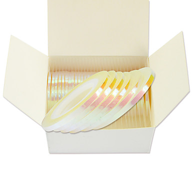 1#=100,2#=50,3#=30pcs مادة لامعة / ستيكرز أظافر 3D / لوازم DIY قالب ختم الأظافر يوميا موضة