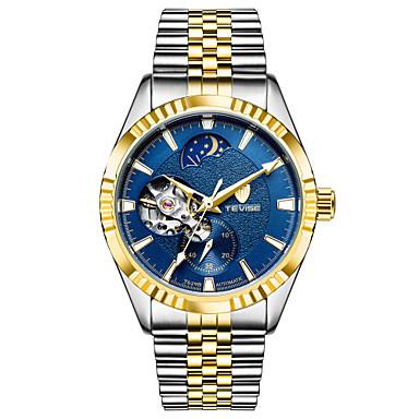 Bărbați ceas mecanic Ceas Schelet Ceas La Modă Ceas Sport Mecanism automat Calendar Rezistent la Apă Iluminat Luminos Oțel inoxidabil