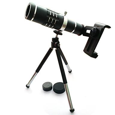 De înaltă calitate 18x zoom telescop optic telephoto lentilă kit camera lentile cu trepied pentru iphone 6 7 samsung s7 xiaomi mi6 (negru)