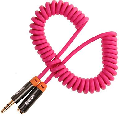 3,5 mm audio jack Kabel, 3,5 mm audio jack to 3,5 mm audio jack Kabel Mannelijk - Vrouwelijk Verguld koper 3.0M (10Ft)