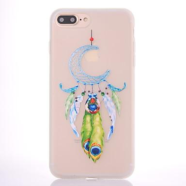 Voor Hoesje cover Mat Doorzichtig Patroon Achterkantje hoesje Dromenvanger Zacht TPU voor Apple iPhone 7 Plus iPhone 7 iPhone 6s Plus