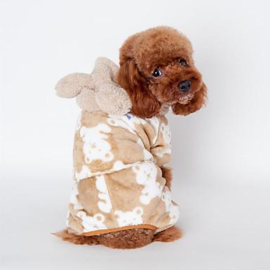 Câine Pijamale Îmbrăcăminte Câini Casul/Zilnic Animal Negru Cafea Roz Costume Pentru animale de companie