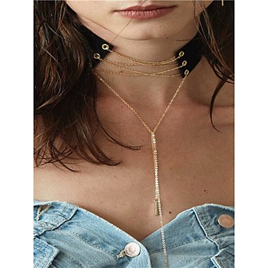Pentru femei Line Shape Personalizat Pandantiv Ciucure Euramerican Modă Coliere cu Pandativ Y-Coliere Bijuterii Articole de ceramică