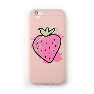 Hülle Für Apple iPhone 7 Plus iPhone 7 Mattiert Durchscheinend Muster Rückseite Frucht Weich TPU für iPhone 7 Plus iPhone 7 iPhone 6s