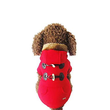 Hund Kapuzenshirts Hundekleidung Lässig/Alltäglich Solide Grau Rot Kostüm Für Haustiere