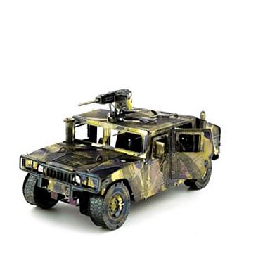 Jucării pentru mașini Puzzle 3D Puzzle Puzzle Metal Rezervor Reparații Crom MetalPistol Clasic Vehicul de Construcție Unisex Cadou