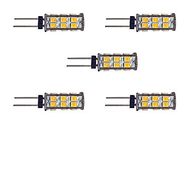2W G4 2-pins LED-lampen 26 leds SMD 2835 Warm wit Wit 145lm 3000-3500/6000-6500K DC 12V