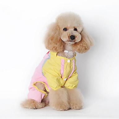 كلب معطف المطر ملابس الكلاب كاجوال/يومي صلب أخضر زهري كوستيوم للحيوانات الأليفة