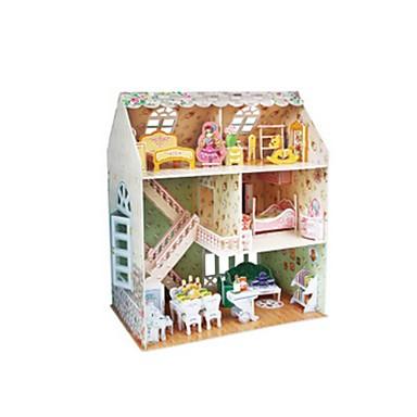Poppen 3D-puzzels Legpuzzel Poppenhuis Bouwplaat Speeltjes Vierkant Beroemd gebouw Architectuur 3D Meisjes Stuks