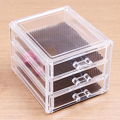 Kosmetik Box Others Aufbewahrung für Make-Up Solide Quadratisch Acryl