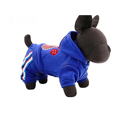 كلب هوديس ملابس الكلاب قطن بطانة فرو ربيع/الصيف شتاء كاجوال/يومي حيوان أحمر أزرق للحيوانات الأليفة