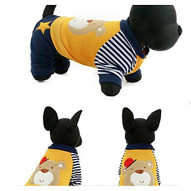 Hond Sweatshirt Hondenkleding Casual/Dagelijks Stripprint Geel Groen