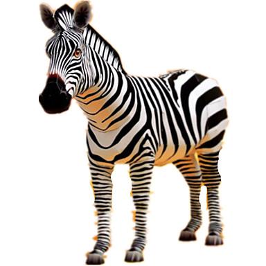 Puzzle 3D Modelul de hârtie Lucru Manual Din Hârtie Μοντέλα και κιτ δόμησης Cai Zebră Animale Simulare Reparații Hârtie Rigidă pentru