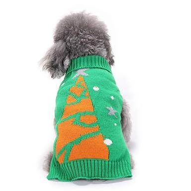 Hond kostuums Hondenkleding Cosplay Flora/Botanisch Groen
