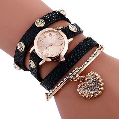 Dames Armbandhorloge Unieke creatieve horloge Vrijetijdshorloge Sporthorloge Modieus horloge Kwarts PU Band Amulet Luxe Creatief
