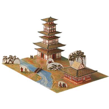 3D - Puzzle Papiermodel Spielzeuge Berühmte Gebäude Chinesische Architektur Architektur 3D Heimwerken keine Angaben Unisex Stücke
