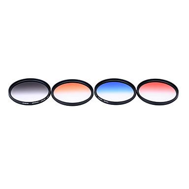 Andoer professionelle 67mm gnd graduierte filter set gnd4 (0.6) grau blau orange rot abgestuft neutrale dichte filter