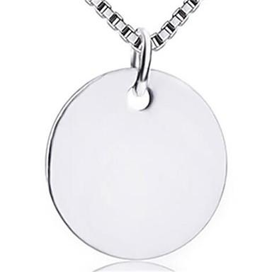 للمرأة قلائد الحلي مجوهرات Circle Shape سبيكة موضة شخصية أسلوب بسيط مجوهرات من أجل زفاف حزب حفلة ليلية