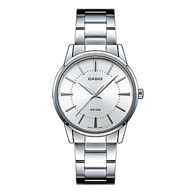Casio Heren Modieus horloge Polshorloge Vrijetijdshorloge Japans Kwarts Waterbestendig Roestvrij staal Band Cool Vrijetijdsschoenen Zilver