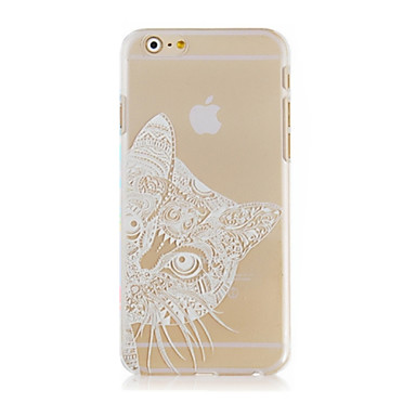 de kat patroon transparante telefoon geval Cover Case voor iphone6 ​​plus case