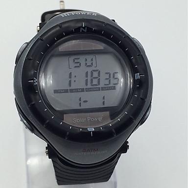 Bărbați Ceas Sport Ceas de Mână Chineză Energie solară Alarmă Calendar Cronometru Iluminat Cauciuc Bandă Cool Negru