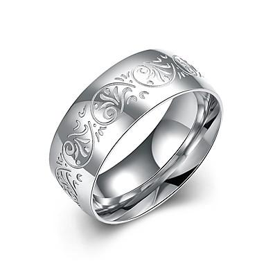 للرجال خاتم مجوهرات ورد والمجوهرات الفولاذ المقاوم للصدأ Circle Shape مجوهرات من أجل زفاف حزب المكتب\الوظيفة لباس يومي