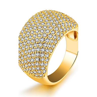 Pentru femei Zirconiu Cubic Band Ring - Zirconiu, Placat Auriu Lux, Modă, Declarație 6 / 7 / 8 Auriu Pentru Petrecere / Zi de Naștere / Cadou