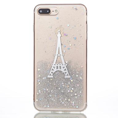 Maska Pentru Apple iPhone 7 Plus iPhone 7 Model Capac Spate Luciu Strălucire Turnul Eiffel Moale TPU pentru iPhone 7 Plus iPhone 7 iPhone
