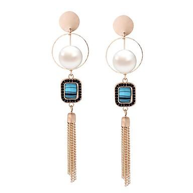 Pentru femei Cercei Picătură Imitație de PerleDesign Circular Design Unic Stil Atârnat Pătrat Cerc Imitație de Perle La modă Personalizat