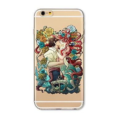 hoesje Voor Apple iPhone X iPhone 8 Plus Transparant Patroon Achterkantje Cartoon Bloem Zacht TPU voor iPhone X iPhone 7s Plus iPhone 8