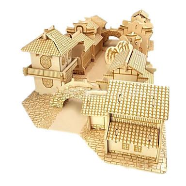 أحجار البناء قطع تركيب3D تركيب مجموعات البناء النماذج الخشبية بناء مشهور بيت معمارية 3D اصنع بنفسك خشب الخشب الطبيعي 6 سنوات فما فوق