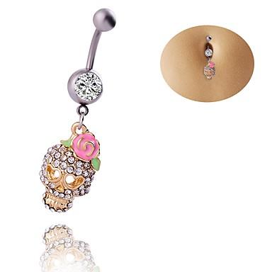 Pentru femei Bijuterii de corp Navel & Bell Button Rings Geometric stil minimalist Chrismas Clasic Elegant Zirconiu Ștras Oțel titan