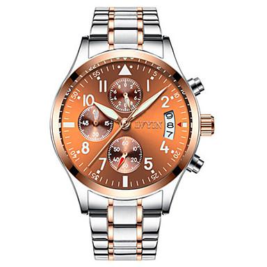 Heren Modieus horloge Kwarts Waterbestendig Legering Band Zwart Zilver