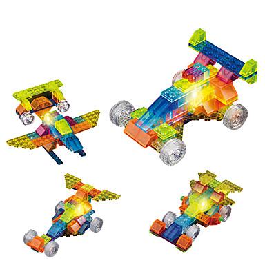 لعبة سيارات إضاءةLED أحجار البناء ألعاب تربوية ألعاب سيارة ABS كريستال غير محدد الأطفال فتيات قطع