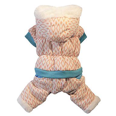 Câine Hanorace cu Glugă / Salopete Îmbrăcăminte Câini Geometic Bumbac Costume Pentru animale de companie Bărbați / Pentru femei Casul /