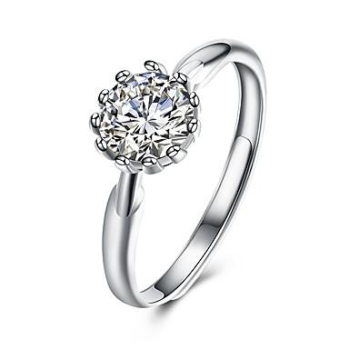 Pentru femei manşetă Ring Zirconiu Cubic Clasic Argint Zirconiu Circle Shape Bijuterii Petrecere Alte Logodnă Zilnic Casual Birou și
